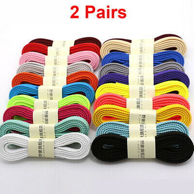 "THICK FLAT FAT SHOE LACES 2/5"" Wide Shoelaces All Shoe Types Trainer Boot Shoes"