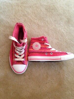 3760afefc19b GIRLS CONVERSE SIZE 1 High Top Pink -  12.99