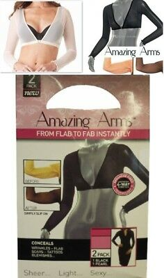 Amazing Arms 2Pc Slimmer Thinner From Flab To Fab Lightweight Arm wear Wrap