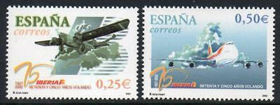 SPAIN 2002 MNH SG3877-78 75th Anniversary of IBERIA Airlines