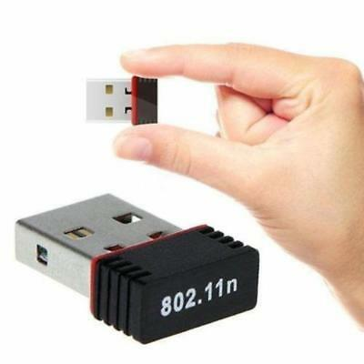 1x Mini USB 2.0 802.11n 150Mbps Wifi Network Adapter for Windows Linux PC Laptop