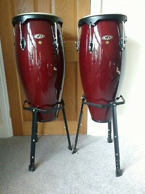 Conga Drums,10 and 11 inch, stands. LP Ascend CP640B-DWB   hand made 2007