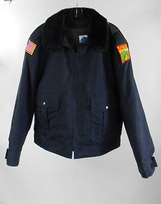 Horace Small apparel Black Uniform Fire Fighter Security Coat w/ Liner Sz 48