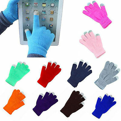 Touch Screen Gloves Soft Winter Men Women Texting Cap Active Smart Phone Knit PO