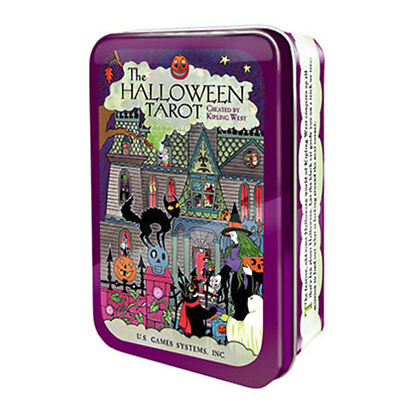 NEW Halloween Tarot Deck in Collectible Tin Kipling West US Games Mini Cards