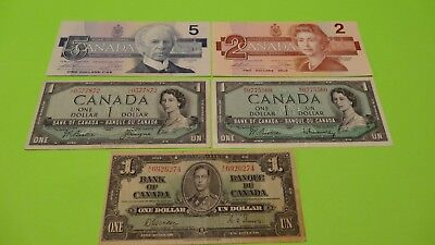 $10 In Old And Older Canadian Currency.
