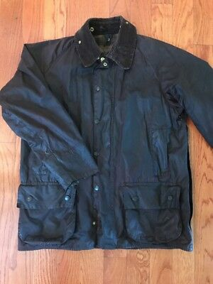 Barbour Waxed Canvas Brown Lined Coat. 42
