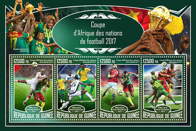 Guinea 2017 MNH Africa Cup of Nations 4v M/S Football Soccer Sports Stamps