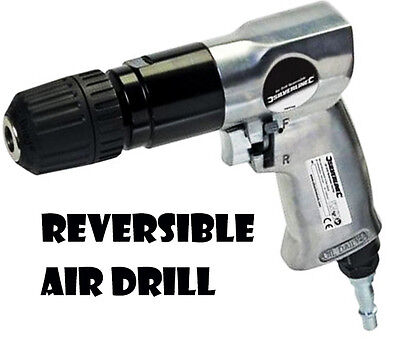 "Heavy Duty Reversible Air Drill 1/4"" Quick Connectors 10Mm Keyless Chuck U84"