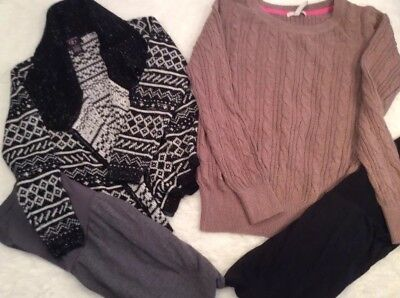 Lot Of 4 Maternity Clothes-2 Motherhood Leggings LG - 2 Sweaters, Size Small