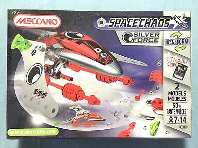 Meccano Space Chaos Silver Force #3150A 50 Pieces New Sealed