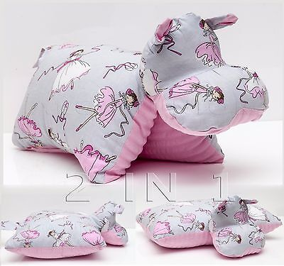 Baby Kids HIPPO PILLOW cuddly toy home room decoration soft washable cotton hit