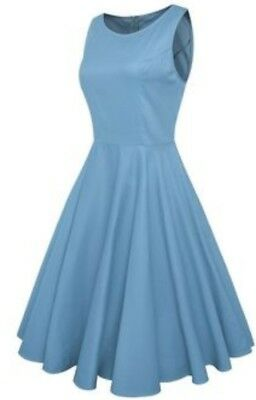 715788e31056 Anni Coco Womens Classy Audrey Hepburn 1950s Vintage Rockabilly Swing Dress  US S