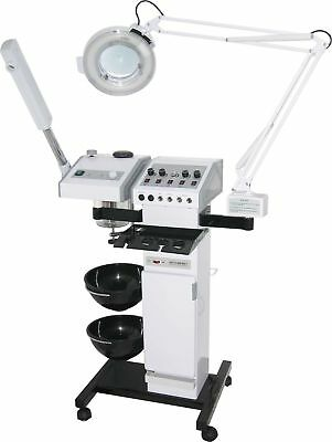 Facial Steamer With Magnifying Lamp Beauty Equipment Ten In One Heavy Duty Base