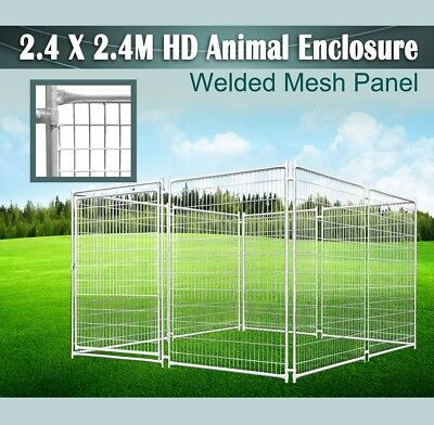2.4x2.4M Animal Enclosure Fencing Barrier Dog Playpen Kennel Outdoor Heavy Duty