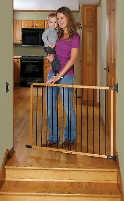 Baby Safety Gate Kids Toddler Deluxe Angle Mount Pet Swing Security Dog Cat