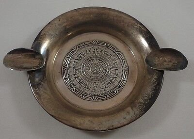 Vintage Sterling Silver 925 River Mexico Ornate Ashtray