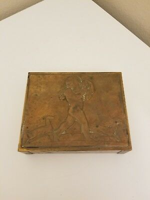 chase copper and brass rockwell kent box