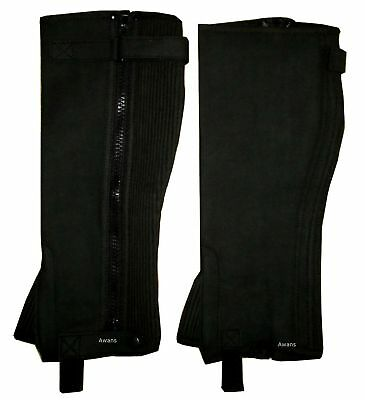 Horse Riding Half Chaps Equestrian / New Unisex / Washable Amara Leather Hors...