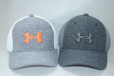 New Under Armour Youth Boys' UA Classic Mesh Golf Cap Stretch Fit Hat