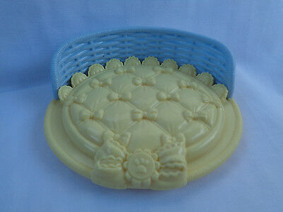 2008 Mattel Fisher Price Snap 'N Style Yellow / Blue Replacement Pet Dog Bed