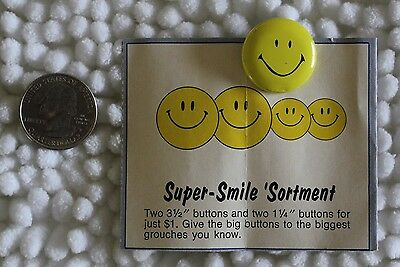 Maxwell House Coffee Happy Button Promotion 1972 Pin Pinback Button w Mail In Ad