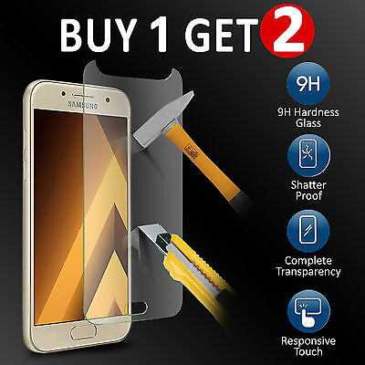 Genuine TEMPERED GLASS Screen Protector for Samsung Galaxy A3 (2017)