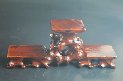 Chinese antique wooden stand table hardwood Triple show display shelf#666