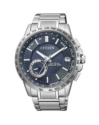 NEW Citizen Mens Stainless Steel Eco-Drive Satellite Wave Watch - CC3000-54L