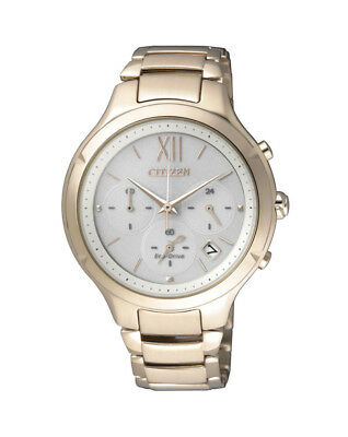 NEW Citizen Ladies Gold Stainless Steel Eco-Drive Watch - FB4013-51A