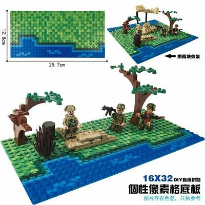 NEW Lego compatible 1 pcs Sea Beach Baseplates Base Plate Building blocks 32x16