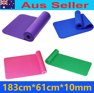 Best price NBR Yoga mat  Non-slip thick10mm Gym Pilate Mat w/Free Carry Strap
