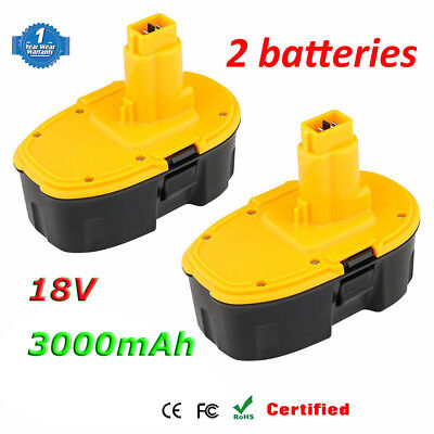2X18V 3.0Ah Ni-MH Battery for Dewalt DW9098 DC9096 DE9095 DW9096 DE9039 DE9098