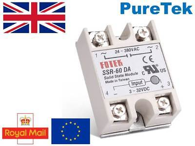 SSR-60DA 60A SSR Solid State Relay & Top/Cover(UK STOCK)