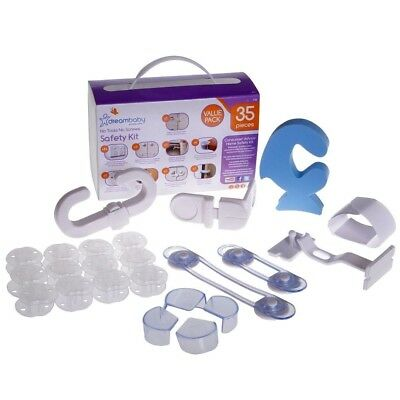 DreamBaby BABY SAFETY KIT 35 Piece Value Pack - No Tools No Screws