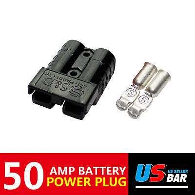 2x SB50A Battery Terminal Plug Power Kit For Forklist Trailer Caravan 4WD Towing