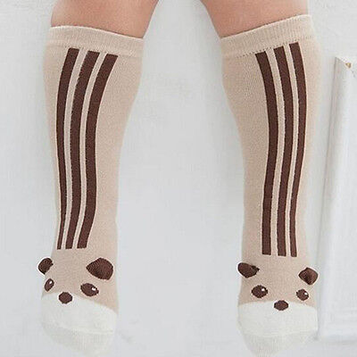 Soft Boys Girls Knee High Socks Cute Design Baby Stockings Toddler Terry Sock