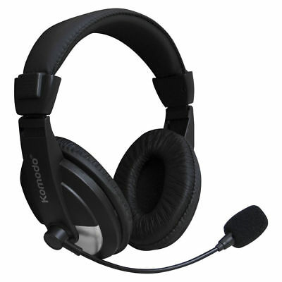 Gaming Headphones with Mic for PC Games, Skype. Laptop Headset with Microphone.