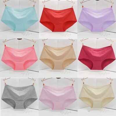 Women's Knickers Soft Lingerie Briefs Cotton Seamless Thongs Panties Underwears