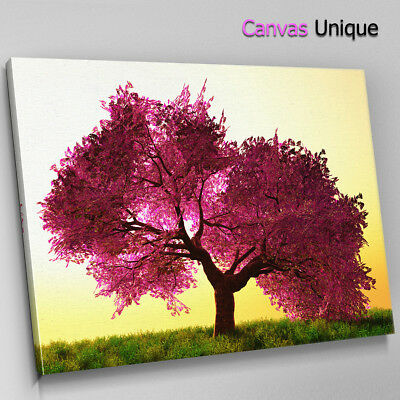 SC299 Purple Tree Leaves Scenic Wall Art Picture Large Canvas Print