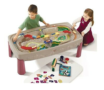 Step 2 Deluxe Canyon Road Track & Train Table Extra Large Table Non Removable