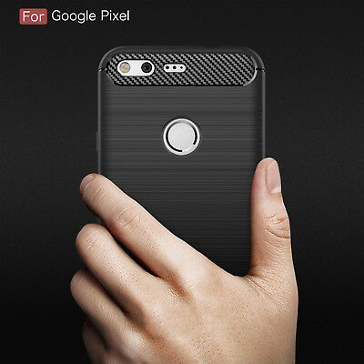 For Google Pixel/ Pixel XL Slim Carbon Fiber Case Shockproof Soft TPU Cover Skin