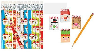 Cheery Christmas Notepad and Pencil Set 48 Pieces