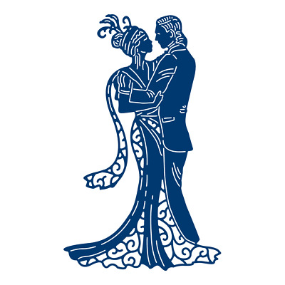 Tattered Lace Art Deco Christmas UNDER THE MISTLETOE Loving Couple Die - TLD0512