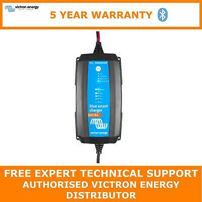 Victron Energy Blue Smart IP65 Trickle Charger For Leisure Boat Batteries 24V 8A