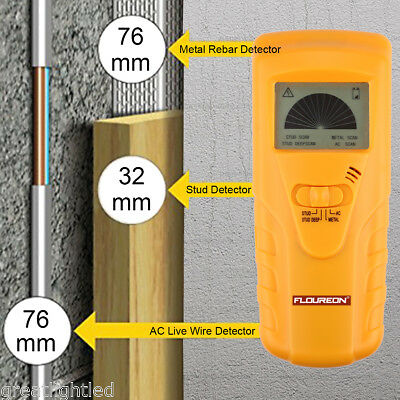 3in1 LCD Wall Stud Center Finder Wood Metal AC Live Wire Detector Scanner Tool