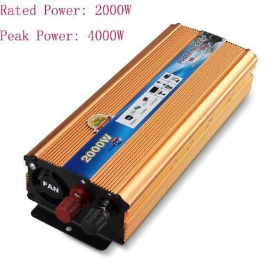 2000W 4000W DC 12V to AC 220V Modified Sine Wave Power Inverter New Car Caravan