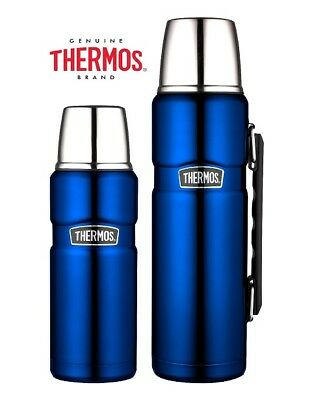 Thermos Stainless King Flask Vacuum Insulated Metallic Blue