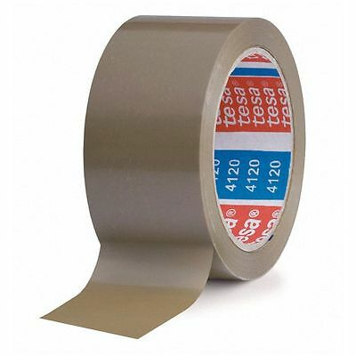 ( eur. 0,03 / m-eur 0,04/M) Tesa Tape Pack PVC 50 mm x 66 M Brown Packing