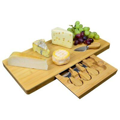 Extra Large Bamboo Cheese Board With Integrated Speciality Knife Compartment